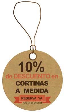 10% de descuento en tus cortinas a medida